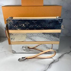 Louis Vuitton Mirror Silver Trunk Pouch bag clutch handbag Virgil Abloh Rare LV